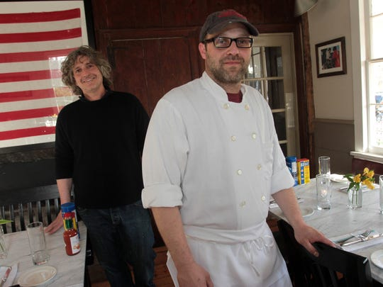 From left,  Owner Edward Taylor and chef-owner Michael Kaphan at The Farmer and The Fish in North Salem.