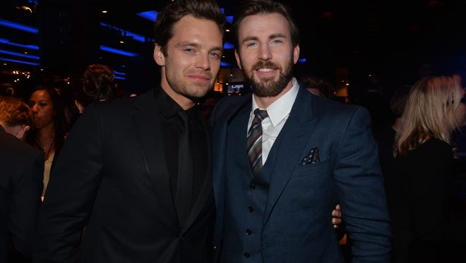 Sebastian Stan (left) and Chris Evans will appear at Ace Comic Con on Jan. 13-15 at Gila River Arena.