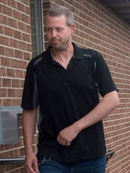 Todd Kraft, 43, of York, enters District Court 19-3-03 in Stewartstown on Wednesday for his preliminary hearing. He's charged with involuntary manslaughter and related offenses in death of Nancy Folcomer, 55, of North Hopewell Township, which happened on June 24, 2017.