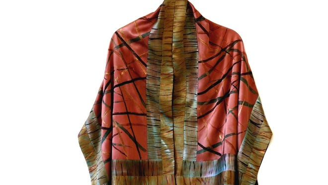 Shawl by Pat Rued, who is showing her jackets and tops in the Door County Wearable Art Show on Oct. 1-2.