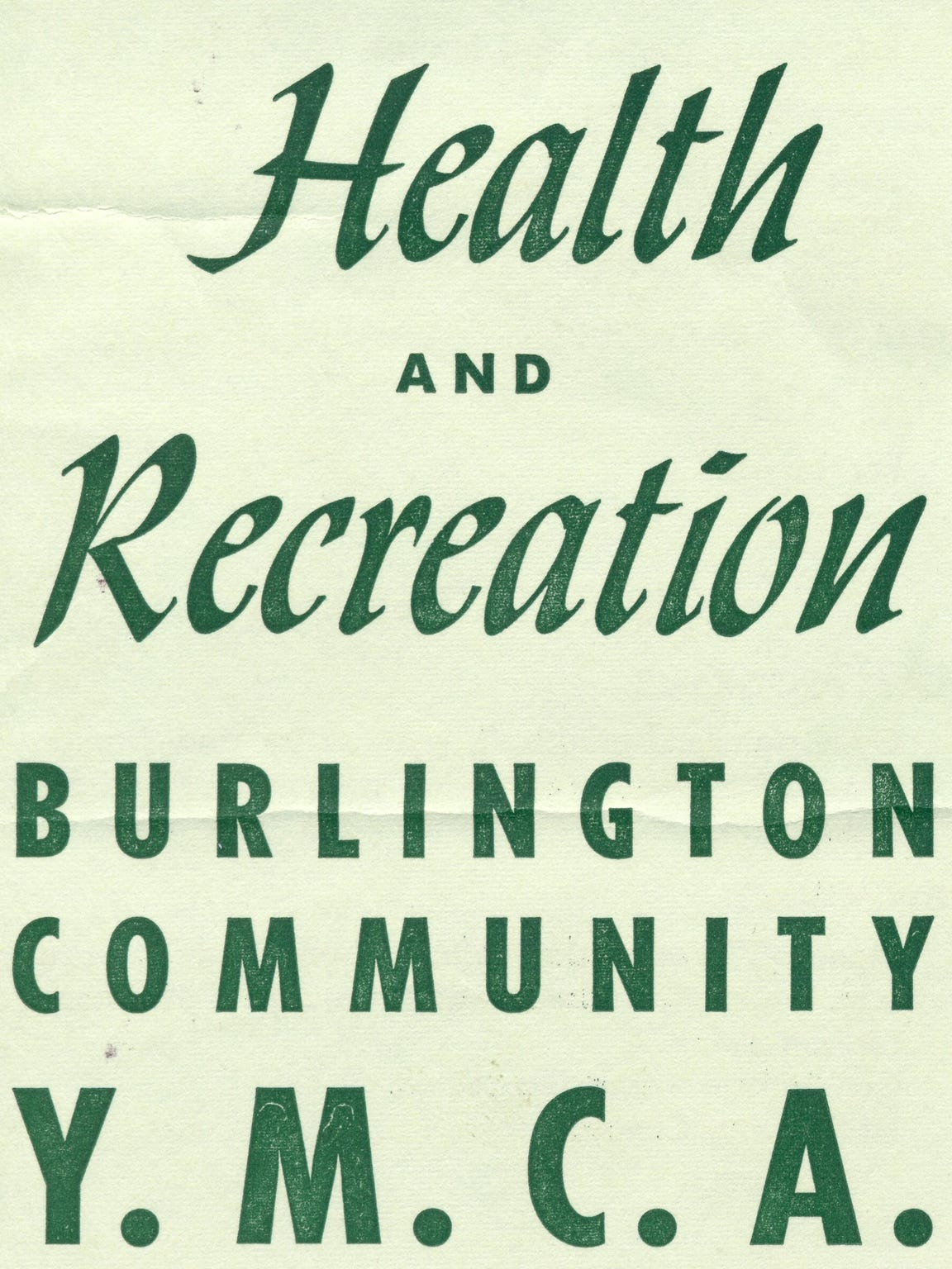 YMCA brochure from 1962.