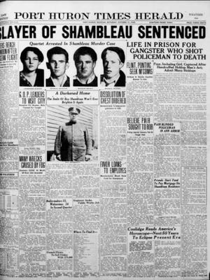 The front page of the Oct. 11, 1930 Times Herald.