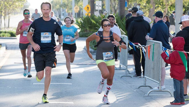 Runners and walkers participated in the Marathon of the Treasure Coast on Sunday, March 4, 2018, in Stuart.  The event also included a 5k, 10k, half-marathon and marathon relay.