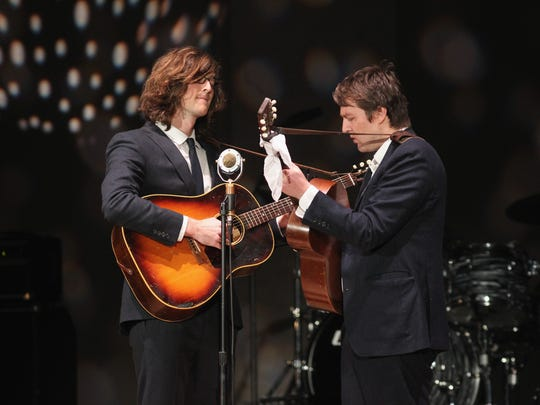 The Milk Carton Kids, a folk duo who had to cancel