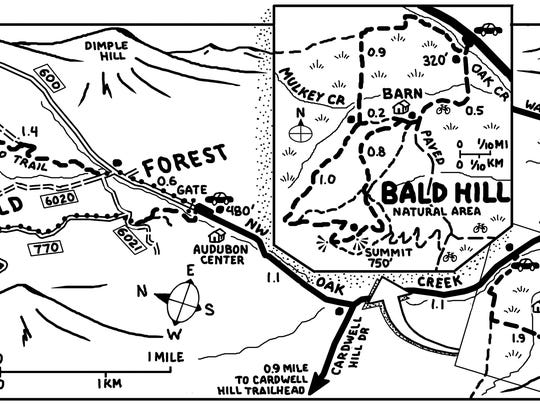 Bald Hill and McCulloch Peak map.