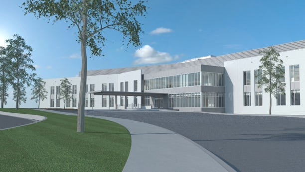 This rendering provided by Doster Construction shows plans for a new medical facility in Mobile.