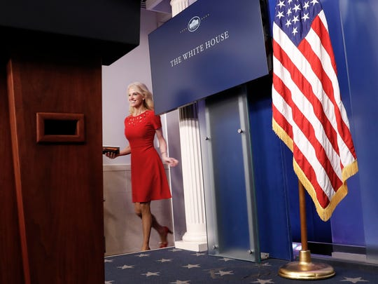 Counselor to the President Kellyanne Conway arrives