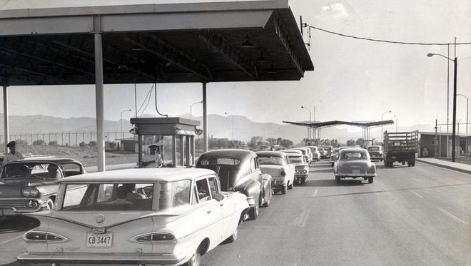 It was business as usual between the U.S. and Mexico at the Cordova Island International Bridge on June 21, 1961.