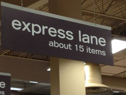 """This express lane with """"about"""" added is going to become"""