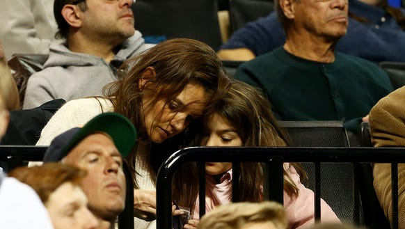 Actress Katie Holmes and her daughter Suri Cruise