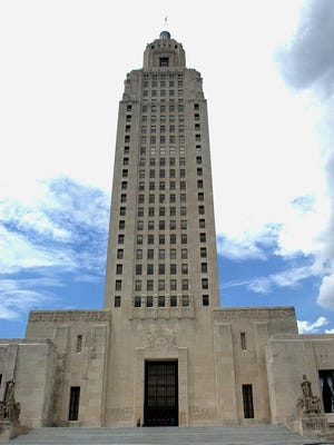 The Louisiana Capitol building.