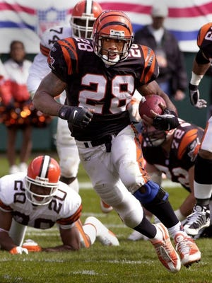 Corey Dillon was a dominant force for the Bengals, including setting the single-game rushing record.