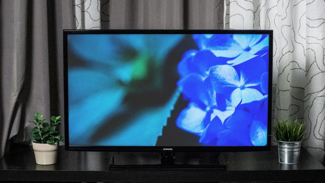 This TV from Samsung features a smart platform — which isn't common in its price range.