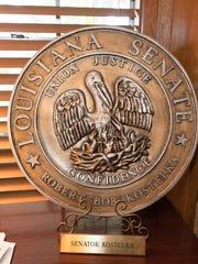 Kostelka's Louisiana Senate Plate