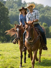 "Britt Robertson and Scott Eastwood in a scene from ""The Longest Ride,"" which was adapted from the novel by Nicholas Sparks."