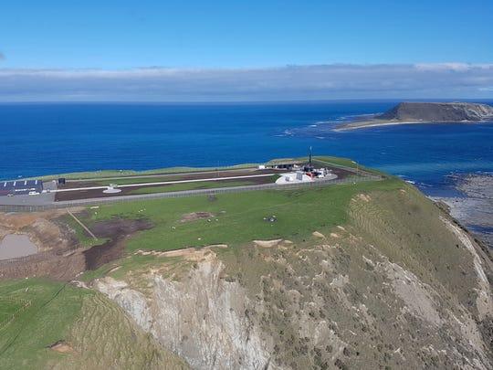 Rocket Lab's Electron launch complex on New Zealand's Mahia Peninsula.