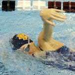 Notre Dame's Molly Craig swims during training at Ernie Davis Academy on Wednesday.
