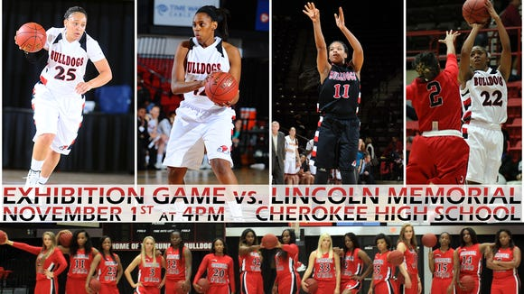 Women's basketball teams from Gardner-Webb and Lincoln Memorial will play a Nov. 1 exhibition game in Cherokee.