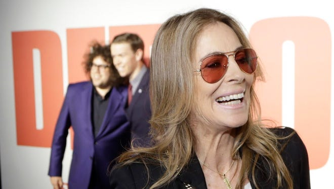 'Detroit' director Kathryn Bigelow is interviewed on the red carpet before Tuesday's world premiere at the Fox Theatre in Detroit.