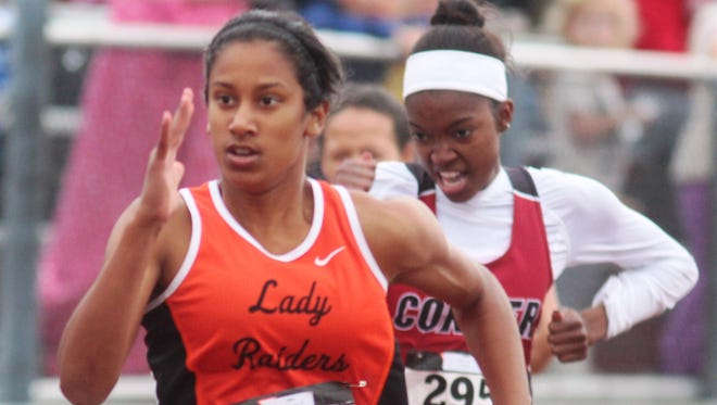 Ryle sophomore Juliet McGregor won the 100 during the Class 3A, Region 5 track and field championships May 12, 2017, at Dixie Heights.