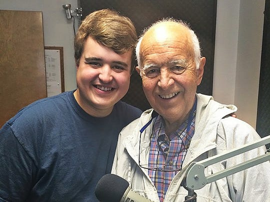 Evangel senior broadcast major Michael Gibson with his grandfather, author, speaker and TV personality Dr. Gary Smalley, shortly before he passed away last winter.