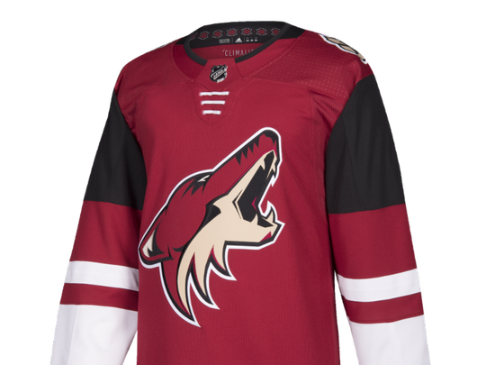 Front of Coyotes' new home jersey.