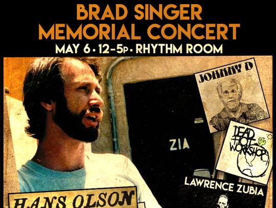 Brad Singer Memorial Concert Poster