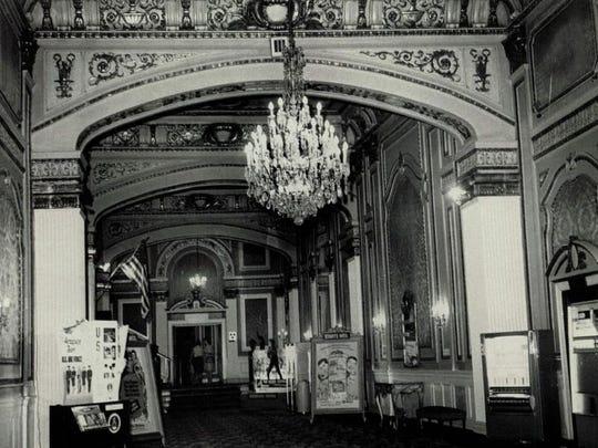 Inside the RKO, before it was demolished in 1965.