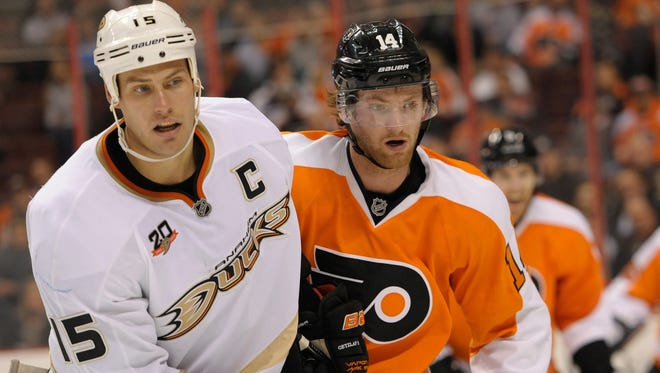 Sean Couturier will likely be matched up against Ryan Getzlaf's line again.