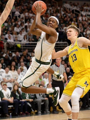 MSU freshman Cassius Winston scored 16 points and hit 10 of 11 free throws, many down the stretch during the Spartans last meeting with the Wolverines, a 70-62 MSU win on Jan. 29 at Breslin.