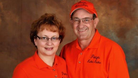 Lori and Roger Pietz own Pietz's Kuchen Kitchen in