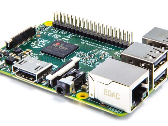 The credit card-sized Raspberry Pi 2 (Model B) computer costs just $35.
