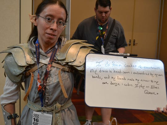 Stephanie Curits dressed up as an elven warrior.