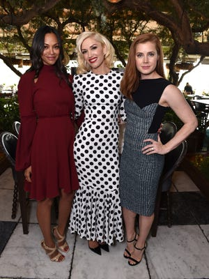 """Petra's girls: Zoe Saldana, Gwen Stefani and Amy Adams attend """"The Hollywood Reporter"""" Power Stylists luncheon in honor of their No.1-ranked stylist, Petra Flannery."""