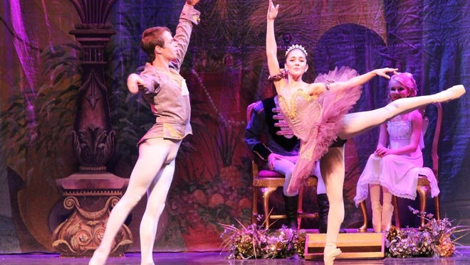 Claudia Lezcano and Reinhard von Rabenau perform as Sugarplum Fairy and Cavalier