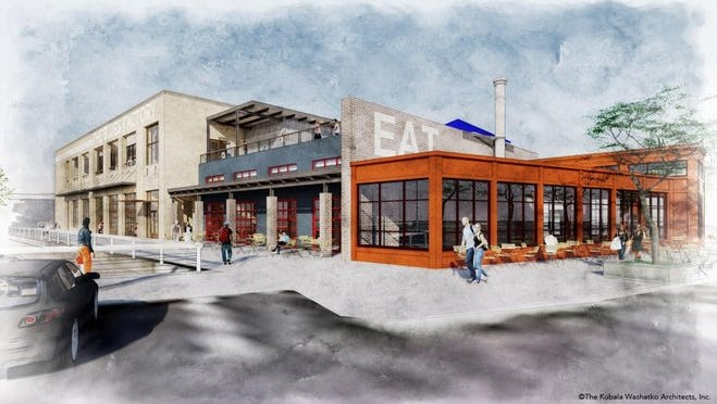 The 25,000-square foot Blues Factory development, to be built on the north marina slip in Port Washington, includes a restaurant and flexible entertainment space on the ground floor and a banquet facility on the second floor.