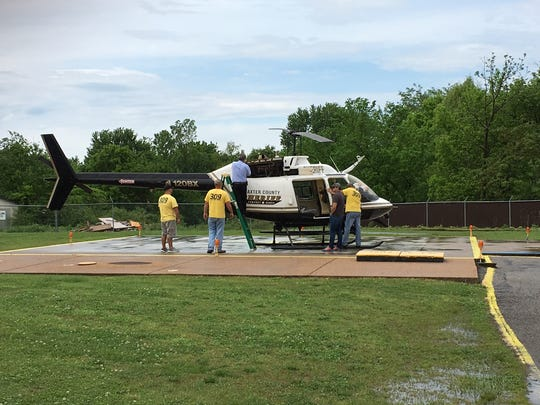 Baxter County Sheriff's Office helicopter pilot Benny Magness directed the capture of a suspected hit and run driver Tuesday afternoon.