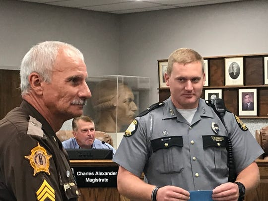 Sergeant Carroll Morrow of the Henderson County Sheriff's