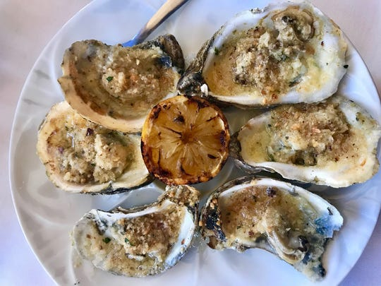 Campfire oysters served at Stoney's Stone Crab in Naples.