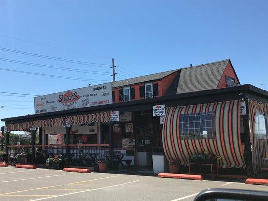 Stewart's Root Beer overlooks the bay in Seaside Heights.