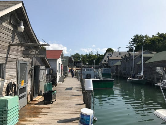 Fishtown, the historic district of Leland.