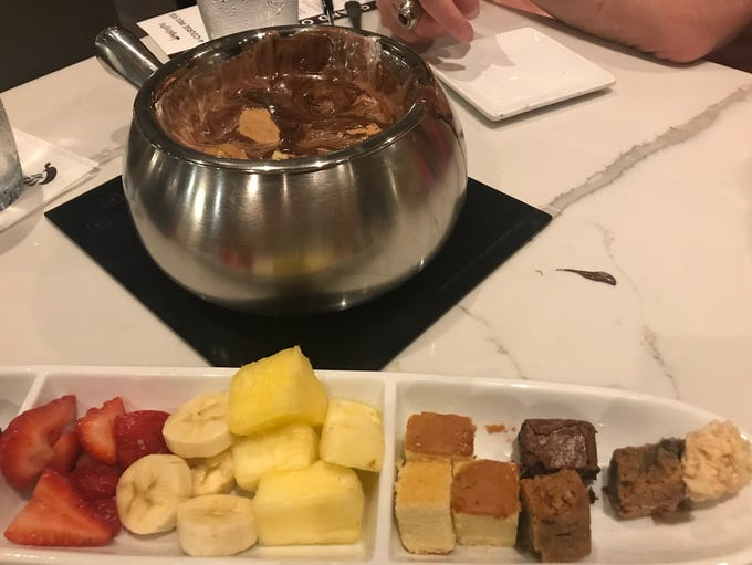 Chocolate s'mores fondue at The Melting Pot in Red