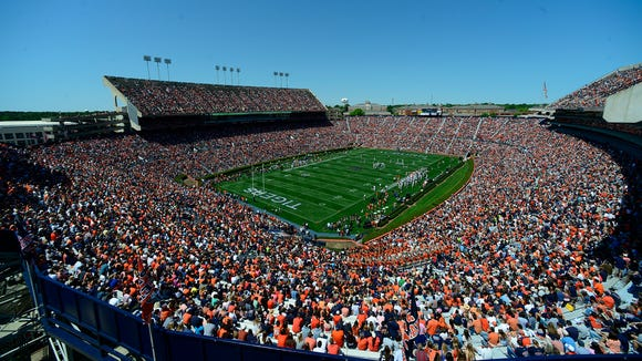 Auburn's season opener with Arkansas is sold out.