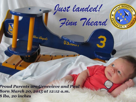 Pensacola Naval Hospital takes special photos of all babies born at the hospital as a keepsake for the families.