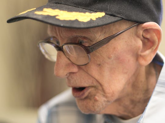 The stories Norbert Knappman shares during an interview Friday, May 25, 2018 brought him to laughter and tears, remembering his experiences in World War II.