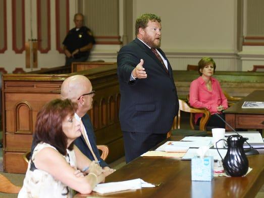 Assistant Muskingum County Prosecutor John Litle questions