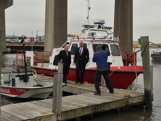 New Jersey's two Democratic U.S. Senators, Robert Menendez