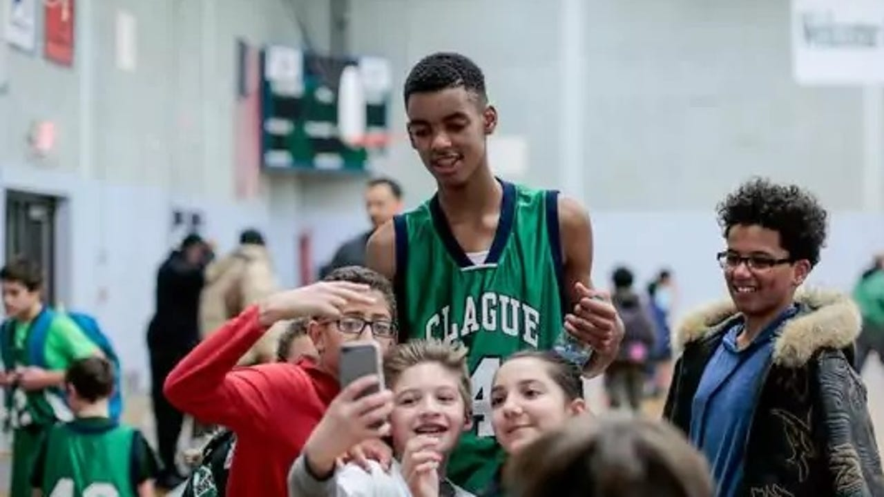 This 13-year-old is probably taller than you and better at basketball
