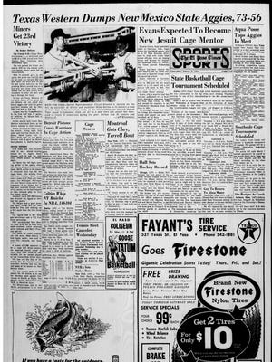 Sports front for March 3, 1966.
