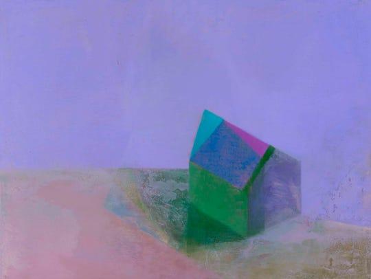 "Tom Climent, ""Kiel."" Oil & Plaster on panel, 22"" x"